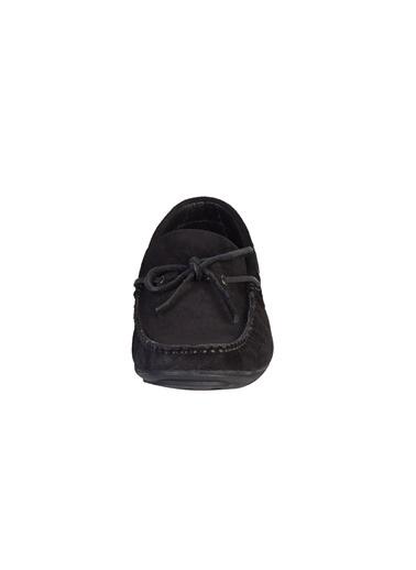 Kiğılı Süet Bağcıkli Loafer Ayakkabı Siyah